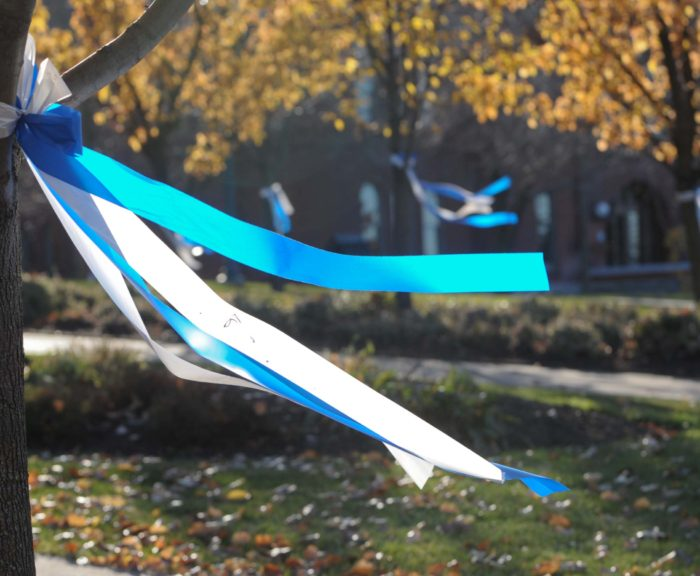 Ribbons at the Place of Remembrance